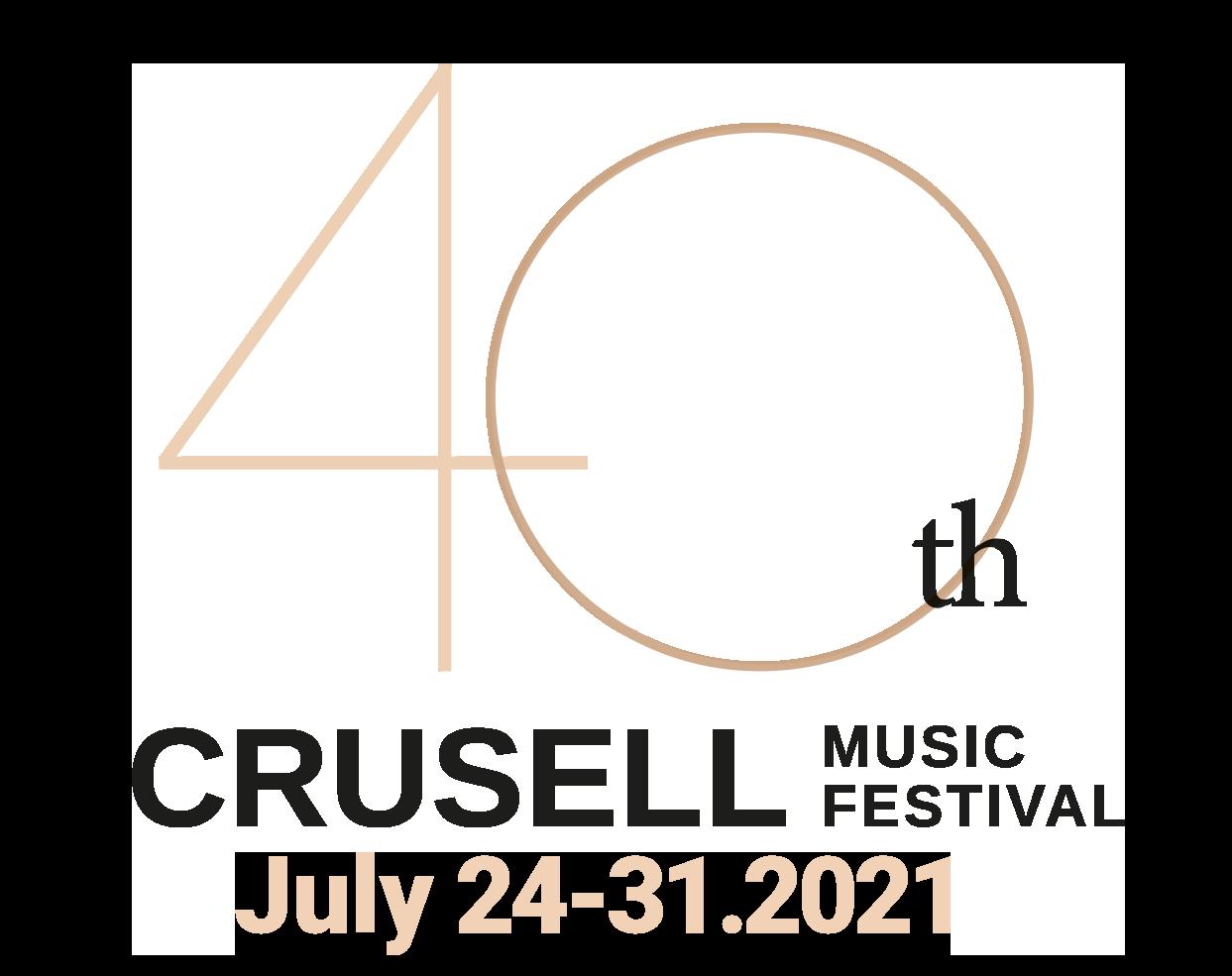 logo CrusellMusicFestival40v July 24-31.2021